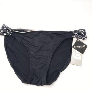 Jag | Tactel Black White Bikini Bottom Size Large